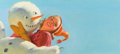 Pin-up and Glamour Art, HADDON HUBBARD SUNDBLOM (American, 1899-1976). Snowman, adillustration. Oil on board. 12 x 27 in.. Not signed. ...