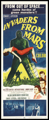 "Invaders From Mars (20th Century Fox, 1953). Insert (14"" X 36""). Science Fiction"
