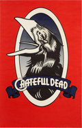 "Music Memorabilia:Posters, Grateful Dead ""Raven"" Poster by Rick Griffin (1973)...."