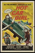 "Movie Posters:Cult Classic, Hot Car Girl (Allied Artists, 1958). One Sheet (27"" X 41""). CultClassic.. ..."