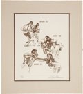 """Movie/TV Memorabilia:Autographs and Signed Items, LeRoy Neiman Signed """"Rounds 7-9"""" Lithograph...."""
