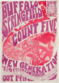 Music Memorabilia:Posters, Buffalo Springfield/Count Five Third Eye Concert Poster (1966)....