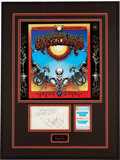 Music Memorabilia:Autographs and Signed Items, Grateful Dead - Jerry Garcia and Bob Weir Autograph Display....