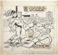 Original Comic Art:Covers, Charles Biro Boy Comics #102 Crimebuster Cover Original Art(Lev Gleason, 1954)....