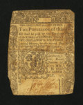 Colonial Notes:Connecticut, Connecticut January 2, 1775 2s/6d Slash Cancel Very Good,backed....