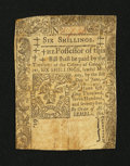 Colonial Notes:Connecticut, Connecticut June 1, 1775 6s Slash Cancel Very Good, backed....