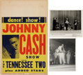 Music Memorabilia:Posters, Johnny Cash and the Tennessee Two Poster and Photos (1950s-60s)....(Total: 3 Items)