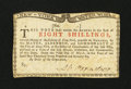 Colonial Notes:New York, New York March 5 , 1776 (Water Works) 8s Extremely Fine-AboutNew....
