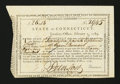 Colonial Notes:Connecticut, Connecticut New Notes Issued. February 1, 1789. Extremely Fine....