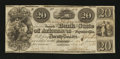 Obsoletes By State:Arkansas, Fayetteville, AR- The Bank of the State of Arkansas $20 Nov. 1, 1838 G162 Rothert 186-8. ...