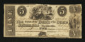 Obsoletes By State:Arkansas, Fayetteville, AR- The Bank of the State of Arkansas $5 Nov. 1, 1838 G152 Rothert 186-6. ...