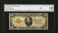 Small Size:Gold Certificates, Fr. 2402* $20 1928 Gold Certificate Star. CGA Fine 12.. ...
