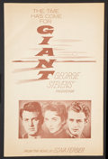 """Movie Posters:Drama, Giant (Warner Brothers, 1956). Pressbook (Multiple Pages) (11"""" X 17.25""""). Drama.. ..."""