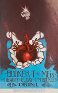 Music Memorabilia:Posters, Booker T. and the MGs/Tim Buckley Carousel Concert Poster andTicket (1968).... (Total: 2 Items)