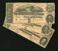 Confederate Notes:1864 Issues, T67; T68; T69 $20; $10; $5 1864. . ... (Total: 3)