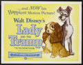 "Movie Posters:Animated, Lady and the Tramp (Buena Vista, 1955). Half Sheet (22"" X 28""). Animated. Starring the voices of Peggy Lee, Barbara Luddy, L..."