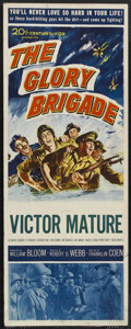 "Movie Posters:War, The Glory Brigade (20th Century Fox, 1953). Insert (14"" X 36"").War. Starring Victor Mature, Alexander Scourby, Lee Marvin, ..."