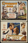 "Movie Posters:Adventure, Caribbean Gold (Paramount, 1952). Half Sheets (2) (22"" X 28"") StyleA and Style B. Adventure. Starring John Payne, Arlene Da... (Total:2)"