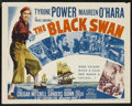 "Movie Posters:Adventure, The Black Swan (20th Century Fox, R-1952). Half Sheet (22"" X 28"")Style A. Adventure. Starring Tyrone Power, Maureen O'Hara,..."