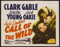 "Movie Posters:Adventure, The Call of the Wild (20th Century Fox, R-1953). Half Sheet (22"" X28""). Adventure. Starring Clark Gable, Loretta Young , Ja..."