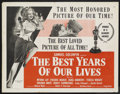"Movie Posters:Academy Award Winner, Best Years of Our Lives (RKO, R-1954). Half Sheet (22"" X 28"").Drama. Starring Myrna Loy, Dana Andrews, Virginia Mayo and Fr..."