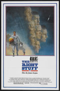 "Movie Posters:Adventure, The Right Stuff (Warner Brothers, 1983). One Sheet (27"" X 41"").Adventure. Starring Sam Shepard, Scott Glenn, Ed Harris, Den..."