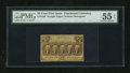 Fractional Currency:First Issue, Fr. 1282 25c First Issue PMG About Uncirculated 55 EPQ....