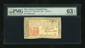 Colonial Notes:New Jersey, New Jersey March 25, 1776 18d PMG Choice Uncirculated 63 EPQ....