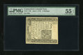 Colonial Notes:Connecticut, Connecticut June 7, 1776 5s Uncanceled PMG About Uncirculated 55EPQ....