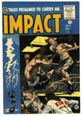 Golden Age (1938-1955):Horror, Impact #5 (EC, 1955) Condition: VF-....