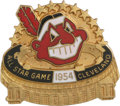 Baseball Collectibles:Pins, 1954 All-Star Game Press Pin (Cleveland). The 1954 All-Star Gameheld in Cleveland was a record-breaking affair, with six h...