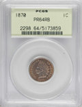 Proof Indian Cents: , 1870 1C PR64 Red and Brown PCGS. PCGS Population (67/34). NGC Census: (35/46). Mintage: 1,000. Numismedia Wsl. Price for NG...