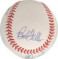 Autographs:Baseballs, Koufax, Ryan and Feller Multi-Signed Baseball. Three of thetoughest hurlers to hit appear on he surface of the clean ONL (...