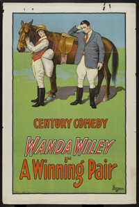 """A Winning Pair (Universal, 1925). One Sheet (27"""" X 41""""). Comedy Short. Starring Wanda Wiley. Directed by Charl..."""