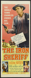 """Movie Posters:Western, The Iron Sheriff (United Artists, 1957). Insert (14"""" X 36""""). Western. Starring Sterling Hayden, Constance Ford, John Dehner,..."""