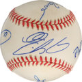 Autographs:Baseballs, Los Angeles Dodgers Rookies of the Year Multi-Signed Baseball. Forfive years in the 1990s, the Los Angeles Dodgers held th...