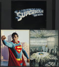 "Movie Posters:Action, Superman the Movie (Warner Brothers, 1978). Jumbo Lobby Cards (3)(14"" X 20""). Action. Starring Christopher Reeve, Gene Hack...(Total: 3)"