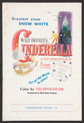 "Movie Posters:Animated, Cinderella (RKO, 1950). Pressbook (Multiple Pages) (12"" X 18). Animated.. ..."