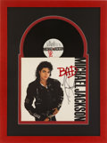 Music Memorabilia:Autographs and Signed Items, Michael Jackson Signed Bad Display....