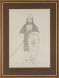 "Music Memorabilia:Original Art, Who Related - John Entwistle ""Knight with Bloody Sword""Illustration and Sketch Group (undated).... (Total: 5 Items)"
