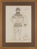 "Music Memorabilia:Original Art, Who Related - John Entwistle ""Sir John the Silent Knight"" Illustration and Sketch Group (undated).... (Total: 4 Items)"