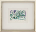 Music Memorabilia:Original Art, Grateful Dead's Jerry Garcia Courtyard Limited EditionArtwork....