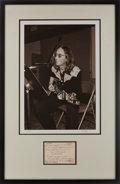 Music Memorabilia:Autographs and Signed Items, Beatles Related - John Lennon Handwritten Note to Fred Seaman....