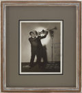 Music Memorabilia:Autographs and Signed Items, Louis Armstrong Signed Photo, 1933....