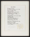 "Music Memorabilia:Original Art, Graham Nash Signed Limited Edition ""Our House"" Manuscript...."