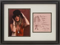 Music Memorabilia:Autographs and Signed Items, Stevie Nicks Autograph with Drawing....
