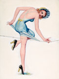 Pin-up and Glamour Art, ENOCH BOLLES (American, 1883-1976). Film Fun cover, August1937. Oil on board. 29.5 x 22 in.. Not Signed. ...