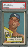 Baseball Cards:Singles (1950-1959), 1952 Topps Mickey Mantle #311 PSA VG 3....