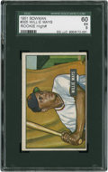 Baseball Cards:Singles (1950-1959), 1951 Bowman Willie Mays #305 SGC 60 EX 5....