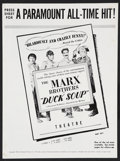 """Movie Posters:Comedy, Marx Brothers Lot (Paramount, R-1949). Press Sheets (4) (10.5"""" X14"""", Multiple Pages). Comedy.. ... (Total: 4 Items)"""